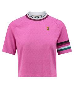 "Damen Tennisshirt ""Breathe Slam"" Kurzarm"