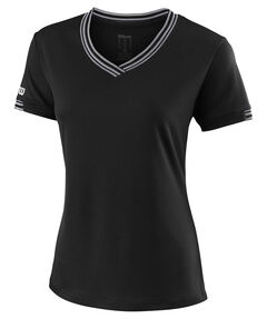 "Damen Tennisshirt ""Team V-Neck"" Kurzarm"
