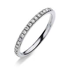 Damen Memoirering mit Diamantbesatz