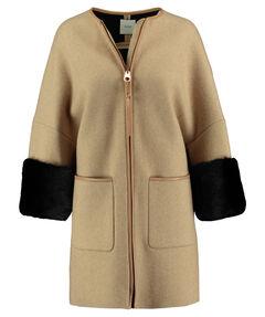 Damen Mantel mit Nerzpelz-Besatz