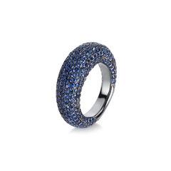 Damen Ring mit Saphirbesatz