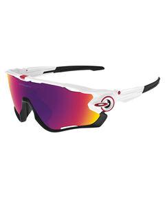 "Sportbrille / Sonnenbrille ""Jawbreaker"" polished white / prizm road"