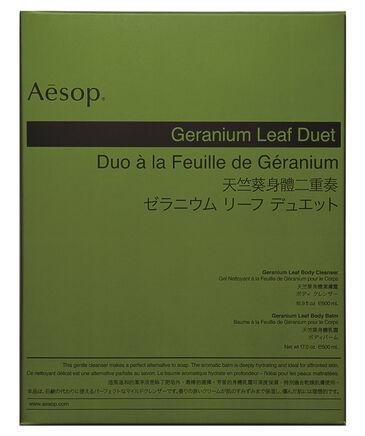 """Aesop - Pflegeset """"Geranium Leaf Duet"""" - Reinigungsgel """"Geranium Leaf Body Balm"""" und Körperbalsam """"Geranium Leaf Body Cleanser"""""""