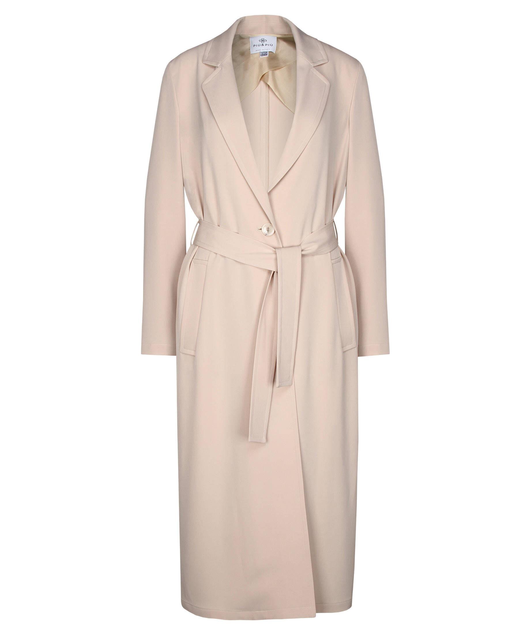 Fashion Mantel Schleife Belt Beige Dunkelblau Plus Size Damen Windbreaker