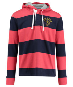 "Herren Rugby- Shirt ""Bar Stripe Heavy Rugger Hoodie"" Langarm"