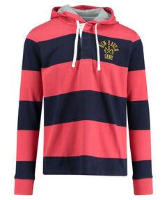 "Herren Rugby- Shirt ""Bar Stripe Heavy Rugger Hoodie"" Langarm"