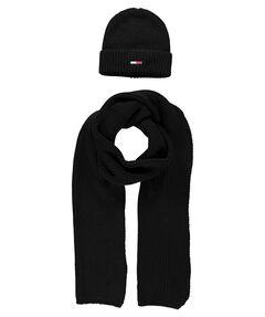 Herren Strickset aus Schal und Mütze