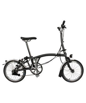 "Brompton - Faltrad ""LD Ausstattung mit M-Lenker, Schutzblechen, Shimano Dynamo und Licht, 6 Gang-Schaltung"" - faltbar"