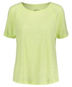 Damen Leinen-Shirt Kurzarm
