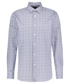 "Herren Hemd ""Leaf Print Hidden Button Shirt"" Langarm"