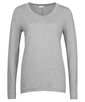"Hanro - Damen Pyjama-Oberteil / Loungeshirt ""Yoga"" Langarm"