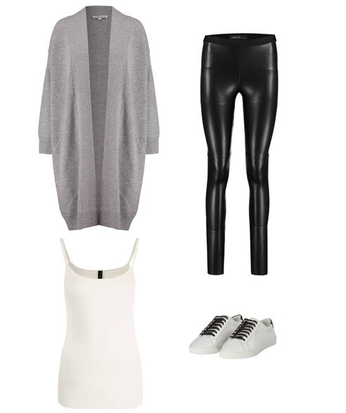 Outfit - Leather On Cotton