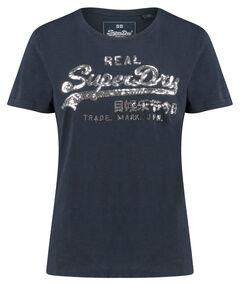 """Damen T-Shirt """"V Logo Glitter Sequin Entry"""""""