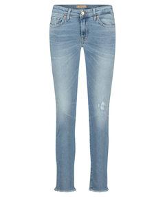 "Damen Jeans ""Pyper Crop Luxe Vintage Blue Eyes Distressed"" Slim Fit verkürzt"