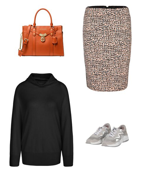 Outfit - Klassischer Materialmix