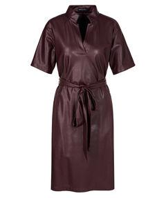 Damen Kunstlederkleid