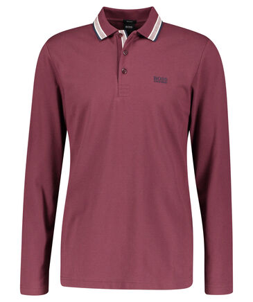 "BOSS - Herren Poloshirt ""Plisy"" Regular Fit Langarm"