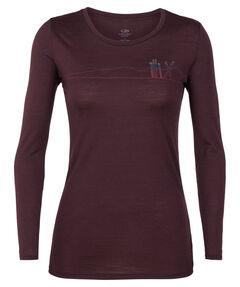 "Damen Shirt ""Tech Lite Long Sleeve Low Crewe Skis in Snow"" Langarm"
