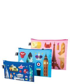 "Damen Kosmetiktaschen Set ""New York/ London/ Paris"""