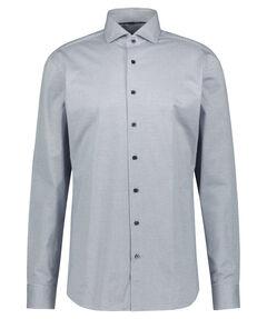 Herren Jerseyhemd Slim Fit Langarm