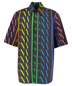 "Herren Hemd ""Allover Rainbow VLTN Shirt"" Kurzarm"