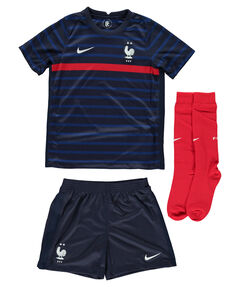 "Kinder Trikot-Set ""FFF Frankreich Mini-Kit Home"" dreiteilig"