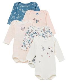 Mädchen Baby Bodies Langarm im 5er-Pack