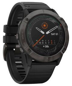 "GPS-Multifunktionsuhr ""Fenix 6X Pro Solar Titanium"" Schwarz/Schiefergrau DLC"