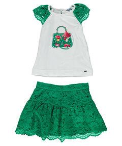 Mädchen Kleinkind Set Rock und T-Shirt