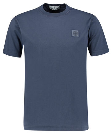 "Stone Island - Herren T-Shirt ""Melange Tonal Logo Patch Tee"""