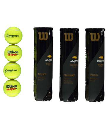 "Wilson - Tennisbälle ""US Open"" exklusive engelhorn-Edition 3er-Set à vier Bälle"