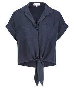 Damen Bluse Kurzarm verkürzt