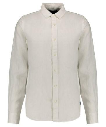 Scotch & Soda - Herren Leinenhemd Regular Fit Langarm