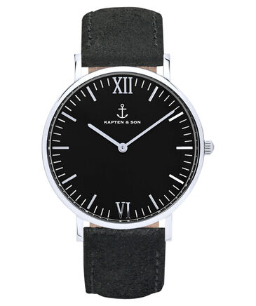 "Kapten & Son - Damen Armbanduhr ""Campus Black All Black Vintage"" 40 mm"