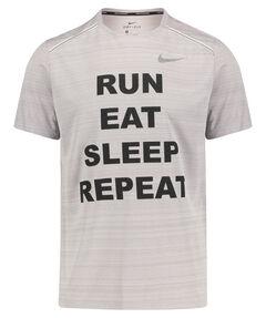 "Herren Laufshirt ""Run, eat, sleep, repeat"" Kurzarm"
