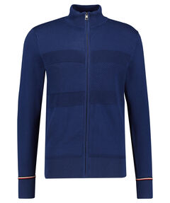 "Herren Strickjacke ""Structured Flag Zip Through"""