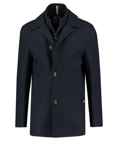 "Herren Mantel ""Wool Blend Coat With Bib"""