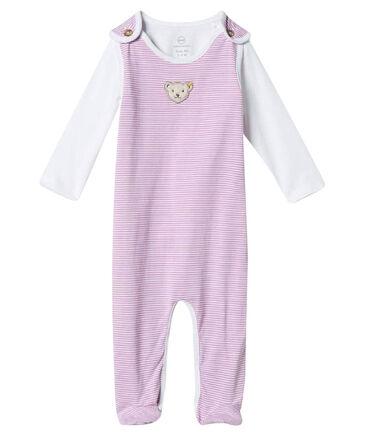 Steiff - Mädchen Baby Strampler mit Shirt Langarm