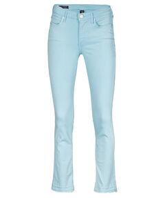 "Damen Jeans ""Halle Modfit Turquoise"" Mid Waist Super Skinny Fit"