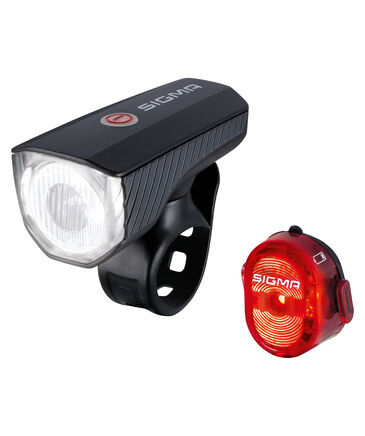 "Sigma - Fahrrad Beleuchtungsset ""Frontleuchte Aura 40 USB / Rückleuchte Nugget II"""
