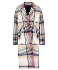 "Damen Mantel ""Checked Wool Blend Overcoat"""