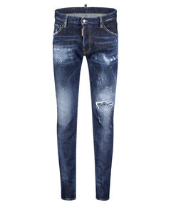 "Herren Jeans ""Cool Guy Paint Splatter Distressed Washed"" Skinny Fit"
