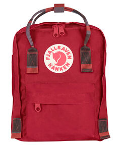 "Kinder Rucksack ""Kånken Mini Deep Red-Random Blocked"""