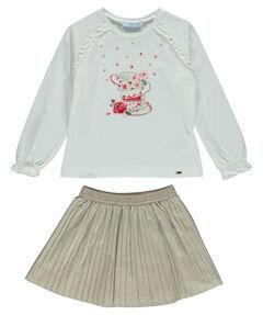 Mädchen Faltenrock mit Shirt zweiteilig