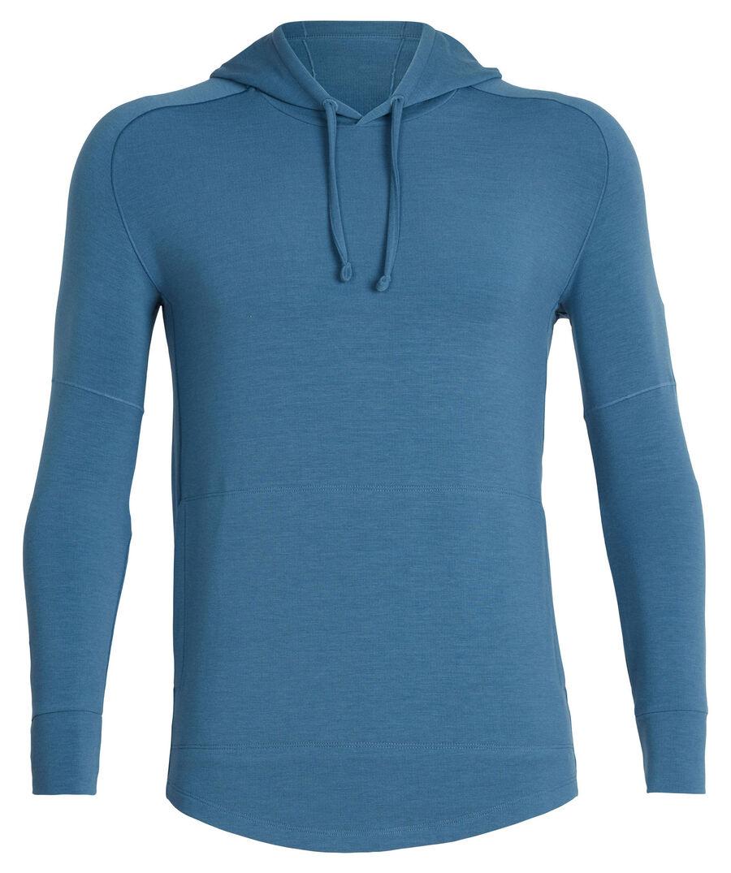 "Icebreaker Herren Sweatshirt ""Momentum Long Sleeve Hood"", petrol, Gr. XL"