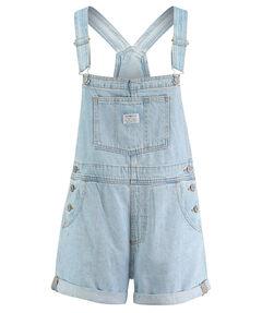 Damen Jeans-Latzhose kurz