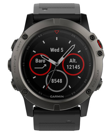 "Garmin - GPS-Multifunktionsuhr ""fēnix 5X Saphir"" grau/schwarz"