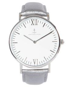 """Damen Uhr """"Campus Silver Metallic Leather"""""""