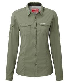 """Damen Funktionsbluse / Outdoor-Bluse """"Nosilife Adventure LS Shirt"""" mit Insektenschutz"""