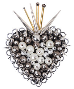 "Damen Brosche ""Dazzling Edge Flaming Heart Brooch"""
